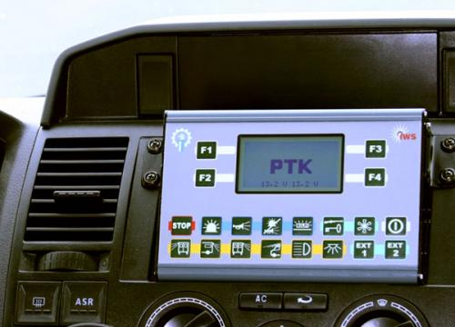 Police car's IWS control panel