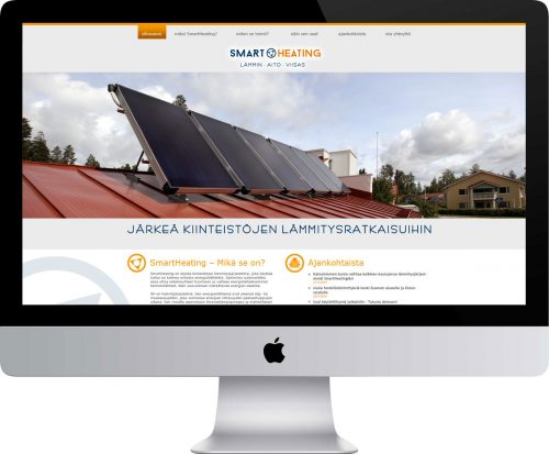 Smartheating Oy verkkosivusto