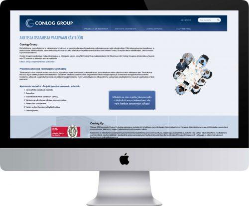 Conlog Group verkkosivusto