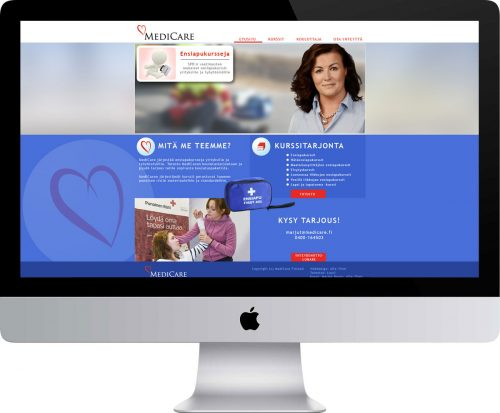 Medicare Oy verkkosivusto