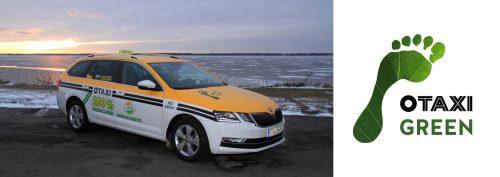 Taxi Green -luokan tunnus ja autoteippaukset