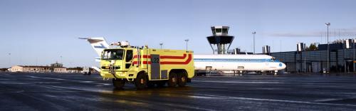 Conlog Sisu -paloauto, kuvaukset asiakkaan markkinointimateriaaleja varten