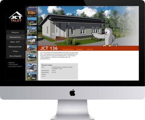 JCT-Talot Oy verkkosivusto